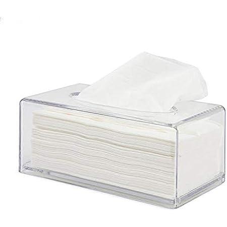 Blanc Rectangulaire En acrylique aoory Distributeur de mouchoirs pour le visage