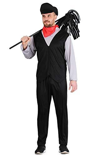 Pegasus Vestito Costume Maschera di Carnevale Adulti - Spazzacamino - Taglia L - 48/50 Uomo