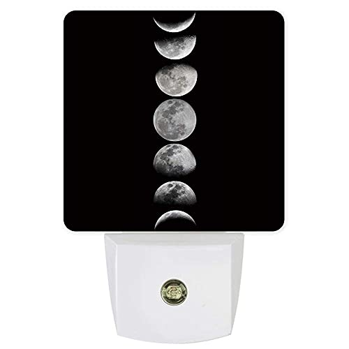 Lámpara LED de noche enchufable para dormitorio, baño, cocina, guardería, pasillo, escaleras, decoración del hogar, pared, color negro