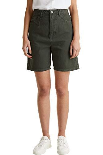 edc by ESPRIT Damen 050CC1C305 Shorts, 350/KHAKI Green, 36