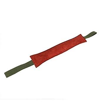 Canne de Dressage de Chien Brun rougeâtre Double poignées 1 PCS Doux Chien Morsure de Formation remorqueur en Cuir Chats pour Animaux de Dressage Chiens
