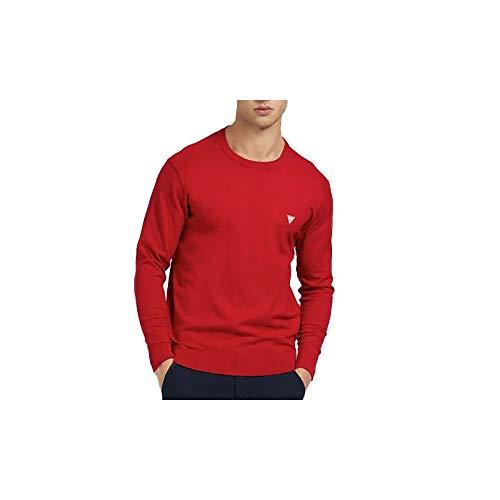 Guess M1RR55Z2SA0-TLRD - Camiseta de hombre de manga larga con cuello redondo, color rojo rojo L