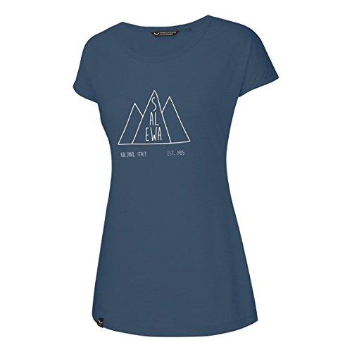 Salewa Fanes Dri-Rel T-Shirt Femme 44 Bleu Jeans foncé