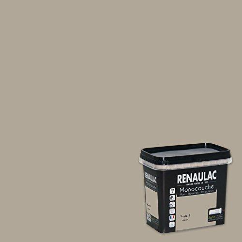 Renaulac Peinture monocouche multisupports Taupe 2 Satin 0,75L - 8m²