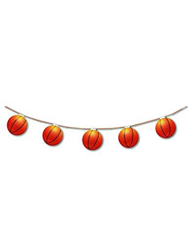 1 Guirlande de 8 Ballons de Basket 3,20 m - Ignifugée - Made in France
