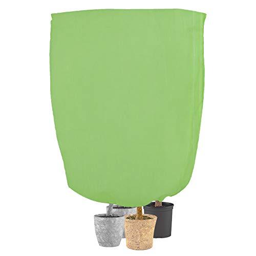 KATELUO Winterschutz für Pflanzen, Frostschutz und Winterschutz für Kübelpflanzen für Baum Palmen Balkonpflanzen haube Zelt Atmungsaktiv - Reißfest - Wiederverwendbar, Wintervlies für Pflanzen