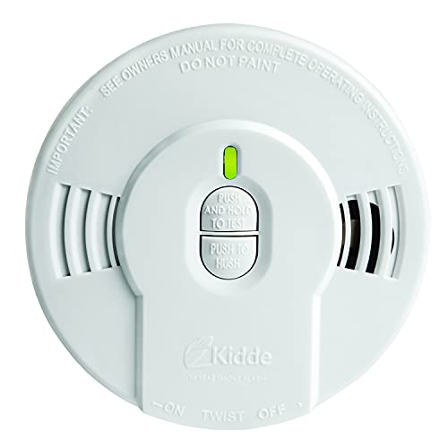 Kidde Smoke Detector with Lithium Battery, LED Lights & Replacement Alert