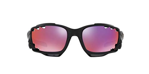 Oakley Herren Sonnenbrille Racing Jacket, Matte Black Ink/Oo Red Iridium Polarized/Black Iridium, M