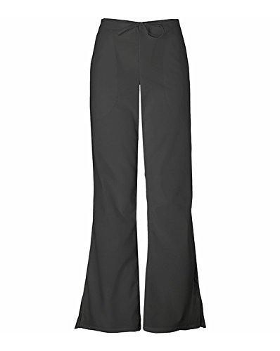 CHEROKEE Women's Flare Leg Drawstring Scrub Pant, Black, Medium