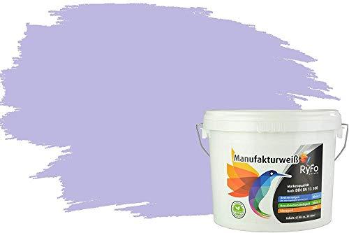 RyFo Colors Bunte Wandfarbe Manufakturweiß Orchidee 6l - weitere Violett Farbtöne und Größen erhältlich, Deckkraft Klasse 1, Nassabrieb Klasse 1