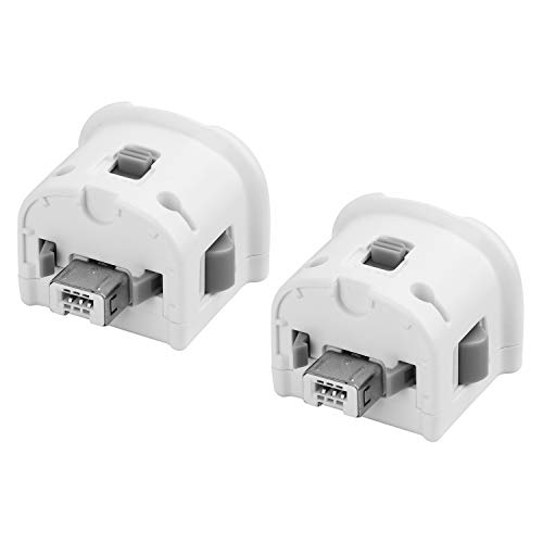 TechKen 2 Pcs Motion Plus Adapters for Wii, External Motion Plus Sensor for Wii Remote Controller