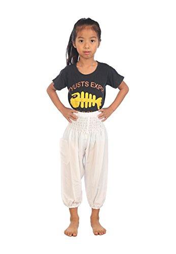 Lofbaz Kids Hippie Gypsy Pantalones Pirata Tailandés Bohemian Morado Talla 4T