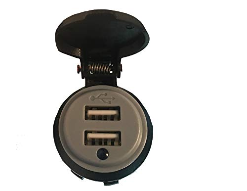 XYZ Boat Supplies Dual USB Charger Socket for Boat/Rv/Car/Motor-Home (4.2 Amp Dual USB)