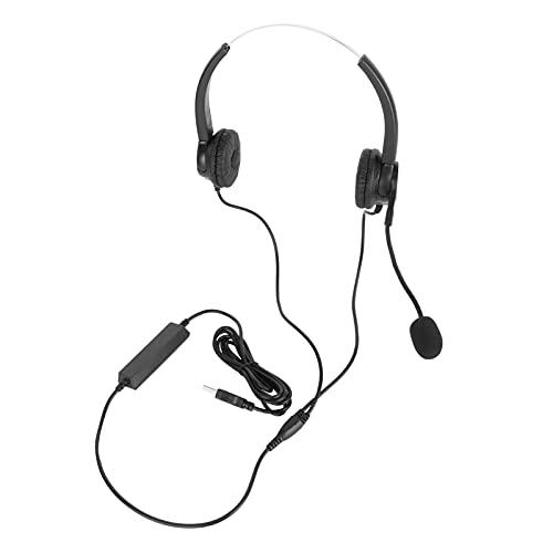 ROMACK Auriculares para Servicio al Cliente, Auriculares para teléfono Ajustables Auriculares comerciales Ligeros y portátiles para Llamadas de Servicio al Cliente