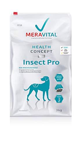 MERAVITAL Insect Pro Hundefutter trocken 3 kg für Hunde, mit verringerten Allergiepotential und Rezeptur aus Insektenprotein