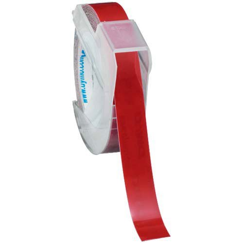 エセルテ ダイモ グロッシーテープ 9mm幅 赤色 10個入