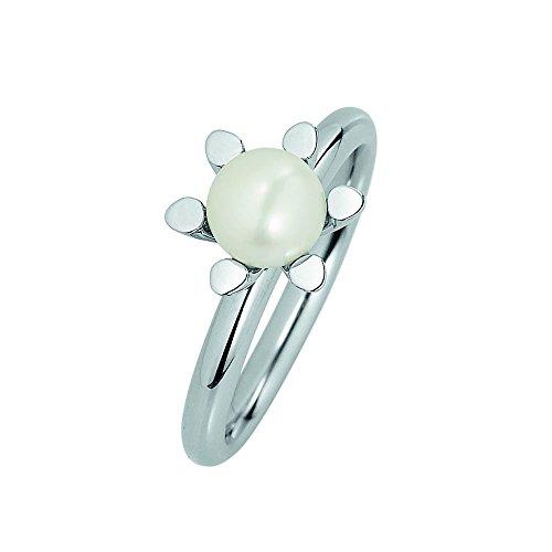 XEN Ring mit 6 mm Perle poliert 49 (15.6)