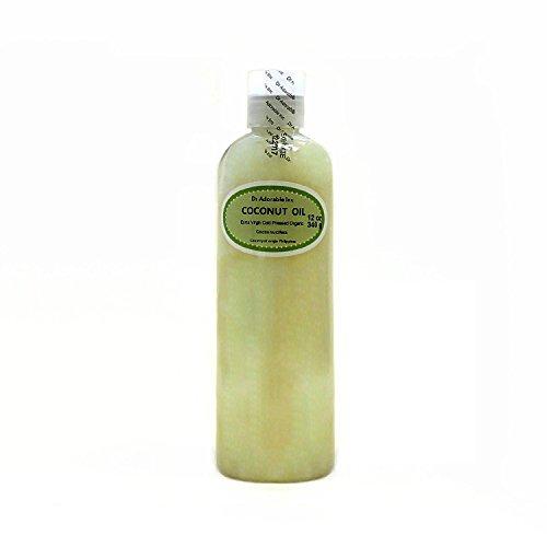 Aceite de coco virgen extra sin refinar orgánico puro por Dr.Adorable 12 oz