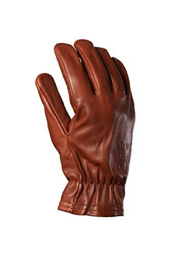 John Doe Freewheeler XTM Motorrad Handschuh aus Rindsleder Atmungsaktiv Braun L