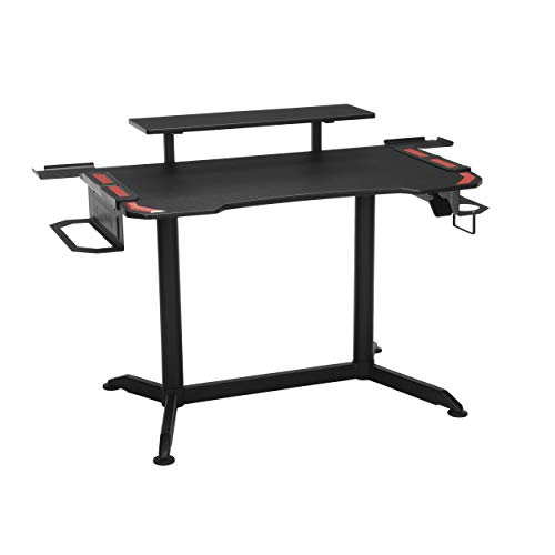 Amazon.com: RESPAWN RSP-3010 Computer Ergonomic Height Adjustable Gaming Desk, 52.6 in, Red : Home & Kitchen $145.29