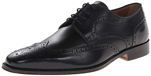 Florsheim Mens Marino Wing Leather Lace Up Dress Oxfords Black