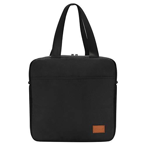 Aosbos kleine Kühltasche Lunch Bag mit Reißverschluss Wasserdicht für Arbeit Schwarz 7L