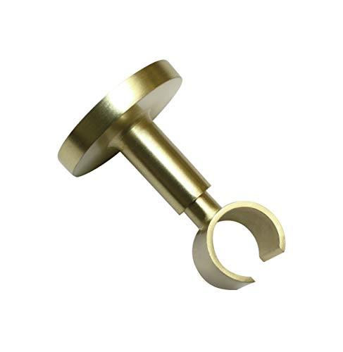 Gardinia Deckenträger mit Metallmontageplatte, 1-läufig, Offen, Alle Montage-Teile inklusive, Serie Chicago, Ø 20 mm, Messing-matt, 32753