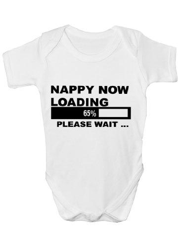 Couche maintenant chargement Funny Body bébé Cadeau Fille/Garçon Gilet - Blanc -