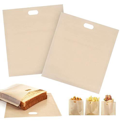 Saijer Bolsas Tostadora, Resistente Calor Reutilizable Fácil Limpiar Bolsas Tostadora Apto para Horno Microondas Sandwichera y Horno(20 PCS)