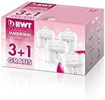BWT Magnesium Mineralizer Cartuchos de filtrado, Blanco, Pack 3+1