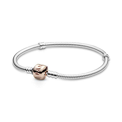 PANDORA Moments Silver Bracelet with Rose Clasp 58070219