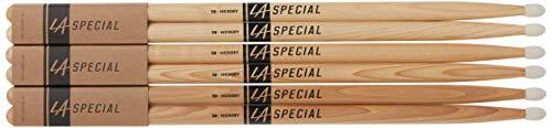 Promark LA Specials 5B Hickory Drumsticks with Nylon Tip, 3-Pack (LA5BN-3P)