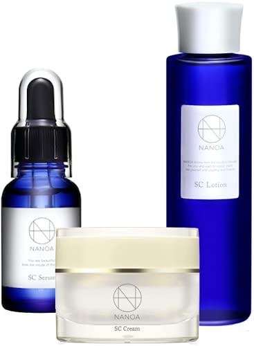 (ナノア)NANOA スキンケアセット 化粧水 美容液 保湿クリーム 医師が大注目のヒト幹細胞 EGF ほうれい線 エイジングケア セラミド 無添加 日本製