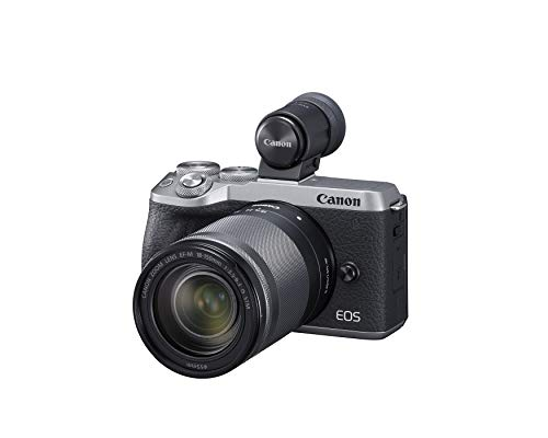 Canon Mirrorless Camera [EOS M6 Mark II] for Vlogging + EF-M 18-150mm lens + EVF Kit|CMOS (APS-C) Sensor| Dual Pixel CMOS Auto Focus| Wi-Fi |Bluetooth| 4K Video, Silver