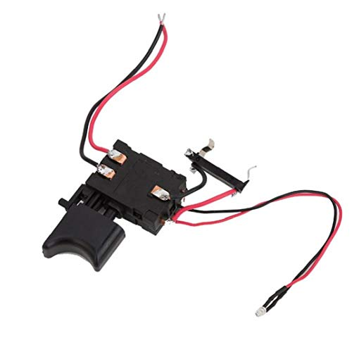 Electric Drill Switch 12V FA2-16/1WEK Lithium Battery Cordless Drill Switch Speed Control for Electric Drill Black