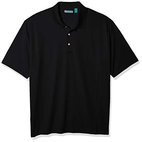 Cubavera Men's Essential Textured Performance Polo Shirt, Jet Black, X-Large