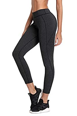 V FOR CITY Womens Compression Yoga Pants Power Stretch Workout Tights Leggings High Waist Tummy Control