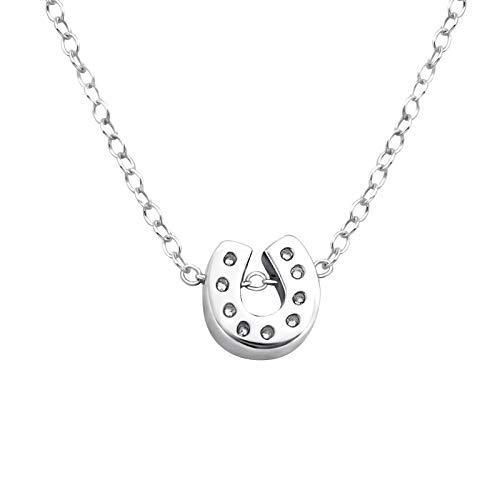 Laimons Damen-Halskette Hufeisen glanz mit Kette 45cm glanz Sterling Silber 925