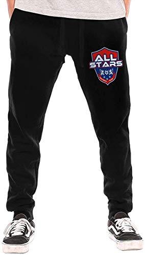 NALLK-7A Fußball All Star Herren Elastic-Bottom Jogginghose mit Taschen