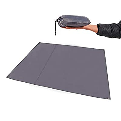 """REDCAMP Waterproof Camping Tent Tarp - 83"""" x83, 4 in 1 Multifunctional Tent Footprint for Camping, Hiking and Survival Gear, Lightweight and Compact"""