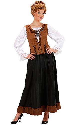 Karneval-Klamotten Magd Marktfrau Bäuerin Mittelalter Kostüm Damen Rock Bluse Korsett Komplettkostüm