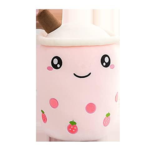 BBSS Relleno de leche taza de té almohada de felpa de manzana de fresa suave perla burbuja almohada de té almohada linda almohada juguete gran regalo
