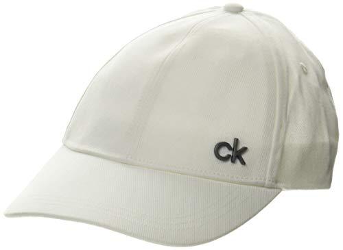 Calvin Klein Cap Gorro/Sombrero, Blanco Brillante, One Size para Hombre