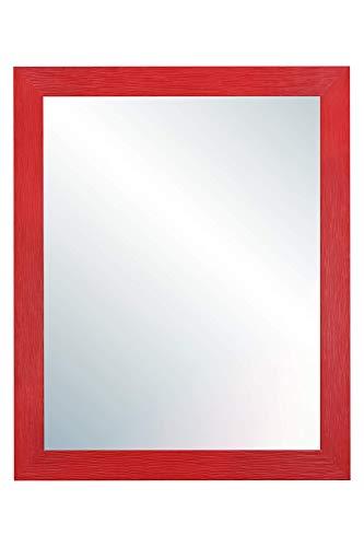 Chely Intermarket, Espejo de Cuerpo Entero 50x70cm(57,50x77,50cm) Rojo/Mod-146, Ideal para peluquerías, salón, Comedor, Dormitorio y oficinas. Fabricado en España. Material Madera.(146-50x70-3,05)