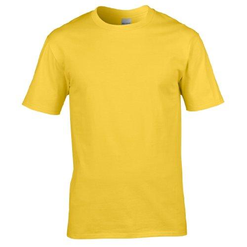 Gildan Premium T-Shirt für Männer (L) (Gänseblümchen) L,Gänseblümchen