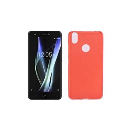 Mb Accesorios Funda Carcasa Gel Roja para BQ AQUARIS X/X Pro, Ultra Fina 0,33mm, Silicona TPU de Alta Resistencia y Flexibilidad