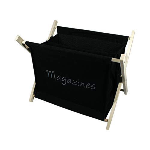 Porte-Magazines Noir Porte-revues Support pour journaux en Bois H 32 cm x l 40 cm x P 28 cm