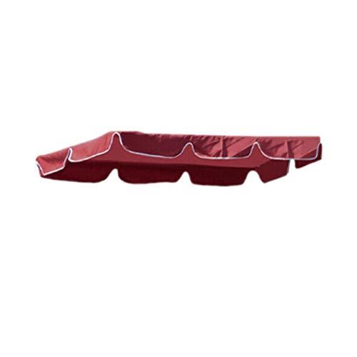 SJHFG Couverture de Remplacement d'auvent d'oscillation Patio extérieur d'auvent résistant à l'eau Couverture supérieure Accessoires de Porche de Jardin,Rouge (3-4 Personnes)