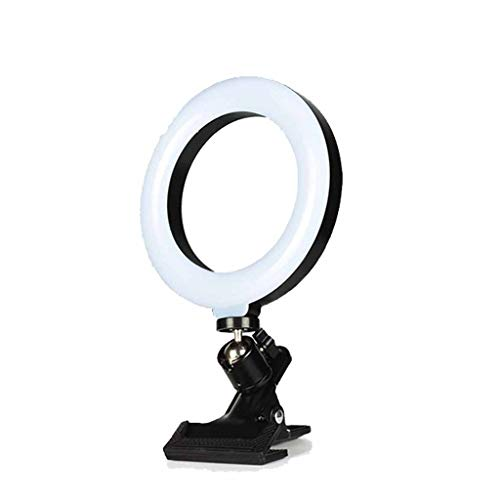 QPALZM Selfie Ring Light with Monitor Clip On,Computer Laptop Video Conferencingcomputer Monitor Light for Remote Working,Self Live Streaming
