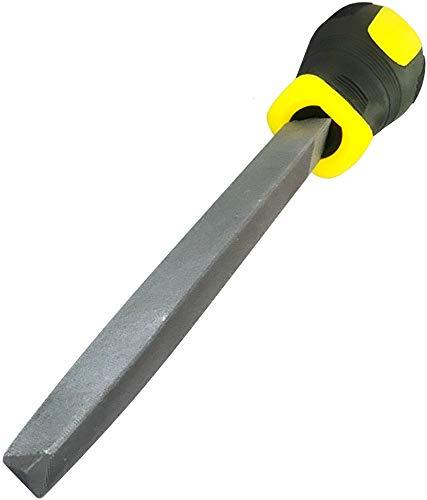 AERZETIX - Lima de afilado Metálico Triangular de Acero - Longitud 200mm - Herramienta de Acabado manual para Modelar el Metal - Limar/Alisado/Pulido/Mecánico - Mango bimaterial - C45984